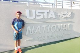 11-year-old Fil-Am tennis player sets his goal higher